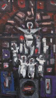 Sale 8839A - Lot 5037 - Roger Kemp (1908 - 1987) - Crucifixion, c1958 88 x 48.5cm