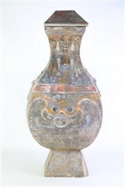 Sale 8869C - Lot 635 - A Large Archaic Style Lidded Terracotta Vase (H 74cm)