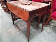 Sale 8868 - Lot 1068 - George III Mahogany Pembroke Table, fitted with a drawer & on tapering legs