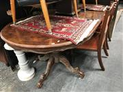 Sale 8868 - Lot 1598 - Twin Pedestal Dining Table