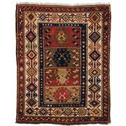 Sale 8890C - Lot 17 - Antique Caucasian Fine Leshki Rug (C1940), 159x125cm, Handspun Wool