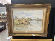 Sale 8932 - Lot 2050 - Selwyn Thompson - Fisherman, Oil on Canvas - SLL