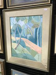 Sale 9024 - Lot 2029 - H Ollivier Hillside Trees oil on board 60 x 51cm (frame) signed lower left
