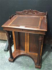 Sale 9063 - Lot 1098 - Rosewood Davenport with Inlaid Sections (H98 x W67 x D56cm)