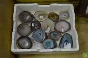 Sale 8507 - Lot 1091 - Box of Agate/ Quartz Polished & caves