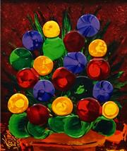 Sale 8575 - Lot 504 - Dean Vella (1958 - ) - Untitled (Flowers) 44.5 x 37cm