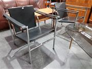 Sale 8705 - Lot 1056 - Good Pair of Le Corbusier LC1 Chairs