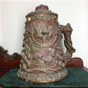 Sale 8795K - Lot 247 - A large lidded ceramic stein