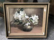 Sale 8819 - Lot 2067 - Ruth Kemp White Azaleas oil on board, 40 x 47.5cm, signed