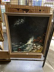 Sale 8891 - Lot 2020 - Bob Tindall - Rising Tide, acrylic painting, signed and inscribed verso, 76.5 x 67.5 cm