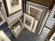 Sale 8895 - Lot 2034 - Collection of hand-coloured Engravings depicting c1900-1910s incl: J R Ashton Hyde Park; King Street; Frederick B Schell Woolloom...