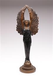 Sale 9060 - Lot 4 - Composite Resin Art Deco Style Figure H:45cm