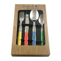Sale 9126K - Lot 576 - Laguiole by Andre Aubrac 16-piece cutlery set - Multicolour