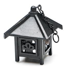 Sale 9246 - Lot 94 - A cast iron hanging pagoda ornament (H:13cm)