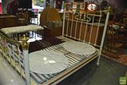 Sale 8383 - Lot 1432 - Victorian Style  Iron and Brass Double Bed