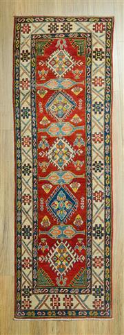 Sale 8585C - Lot 4 - Afghan Kazak 250cm x 81cm