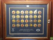 Sale 8582 - Lot 2441 - Framed Sydney 2000 Olympic Games Mascots Medallion Collection - 878 of 5000