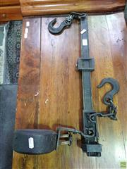 Sale 8589 - Lot 1092 - Cast Iron Wool Bale Scales