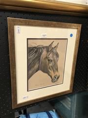 Sale 8856 - Lot 2009 - Michele Palmer The Mare pastel,  40 x 35cm, signed lower right
