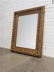 Sale 9085 - Lot 1038 - Ornate Gilt Framed Rectangular Mirror (133 x 100cm)