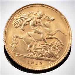Sale 9153C - Lot 301 - 1912 HALF SOVEREIGN; Sydney mint, wt. 3.99g.