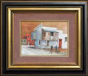 Sale 8286 - Lot 502 - Ric Elliot (1933 - 1995) - Balmain Houses 14 x 19cm