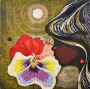 Sale 8394 - Lot 587 - Tadashi Nakayama (1927 - 2014) - Untitled (Girl with Flower), 1969 12.5 x 12cm