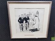 Sale 8552 - Lot 2043 - Framed Original Ink Cartoon