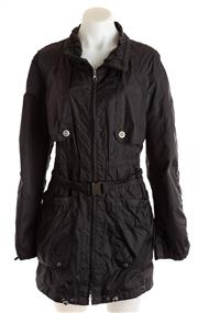 Sale 8640F - Lot 30 - A Betty Barclay black rain jacket, size 40.