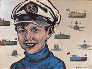 Sale 8659A - Lot 5002 - David Bromley (1960 - ) - The Captain 90 x 120cm