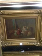 Sale 8655 - Lot 2042 - Artist Unknown - Musical Salon oil on tin (AF), 21 x 31cm, unsigned