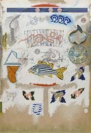 Sale 8720 - Lot 2008 - Stephen Killick (1947 - ) - Untitled (Sea Elements) 122 x 83.5cm