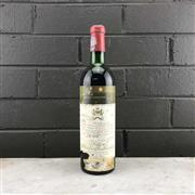 Sale 8987 - Lot 695 - 1x 1971 Chateau Mouton-Rothschild, 1er Cru Classe, Pauillac - level at mid shoulder, cellared stained label