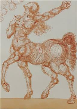 Sale 9108A - Lot 5080 - Salvador Dali (1904 - 1989) - The Centaur 33 x 26 cm
