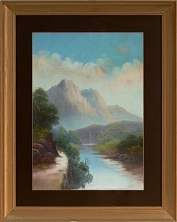 Sale 9150 - Lot 589 - JOHN H OSWALD (1829 - 1899) - Figures by a Scottish Loche 53.5 x 37.5 cm (frame: 74 x 59 x 3 cm)