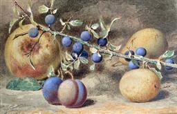 Sale 9214A - Lot 5018 - WALTER HUNT Still Life watercolour 18 x 28 cm (frame: 36.5 x 44.5 cm) signed lower left