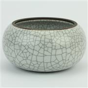 Sale 8356 - Lot 66 - Liewen You Crackle Glaze Bowl
