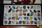 Sale 8509 - Lot 2250 - Tray of Unusual Geology Specimens