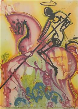 Sale 9108A - Lot 5037 - Salvador Dali (1904 - 1989) - Saint George 56 x 36 cm