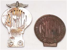 Sale 9131 - Lot 74 - NRMA Car Badges (2)