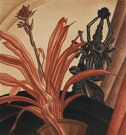 Sale 9142A - Lot 5009 - ADRIAN FEINT (1894 - 1971) - Avalokita & Bellbergia, 1932 60 x 57 cm