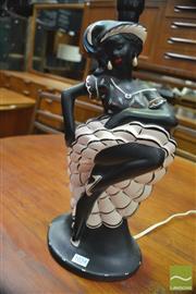 Sale 8338 - Lot 1034 - Barsony Black Lady Flamenco Dancer Lamp (FL-47, some repair)
