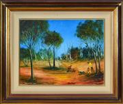 Sale 8401 - Lot 553 - Kevin Charles (Pro) Hart (1928 - 2006) - Checking the Traps 34.5 x 44.5cm