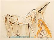 Sale 8575 - Lot 595 - Salvador Dali (1904 - 1989) - The Unicorn, 1970-2 36 x 56cm