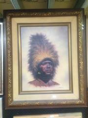 Sale 8655 - Lot 2046 - Bo Newell The Warrior oil on canvas, 90 x 75cm, signed lower right