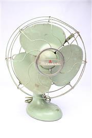 Sale 8701 - Lot 85 - Mitsubishi Green Vintage Desk Fan