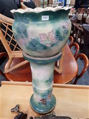 Sale 8724 - Lot 1067 - Ceramic Jardiniere on Stand
