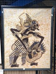Sale 8779 - Lot 2053 - Malaysian Batik, 94 x 74cm (frame)