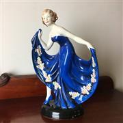 Sale 8795K - Lot 251 - A hand-painted West German porcelain figure of a dancer