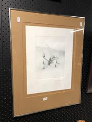 Sale 8819 - Lot 2184 - Peter Hickey Kangaloon Study, 1977 etching ed. AP, 58 x 44.5cm, signed